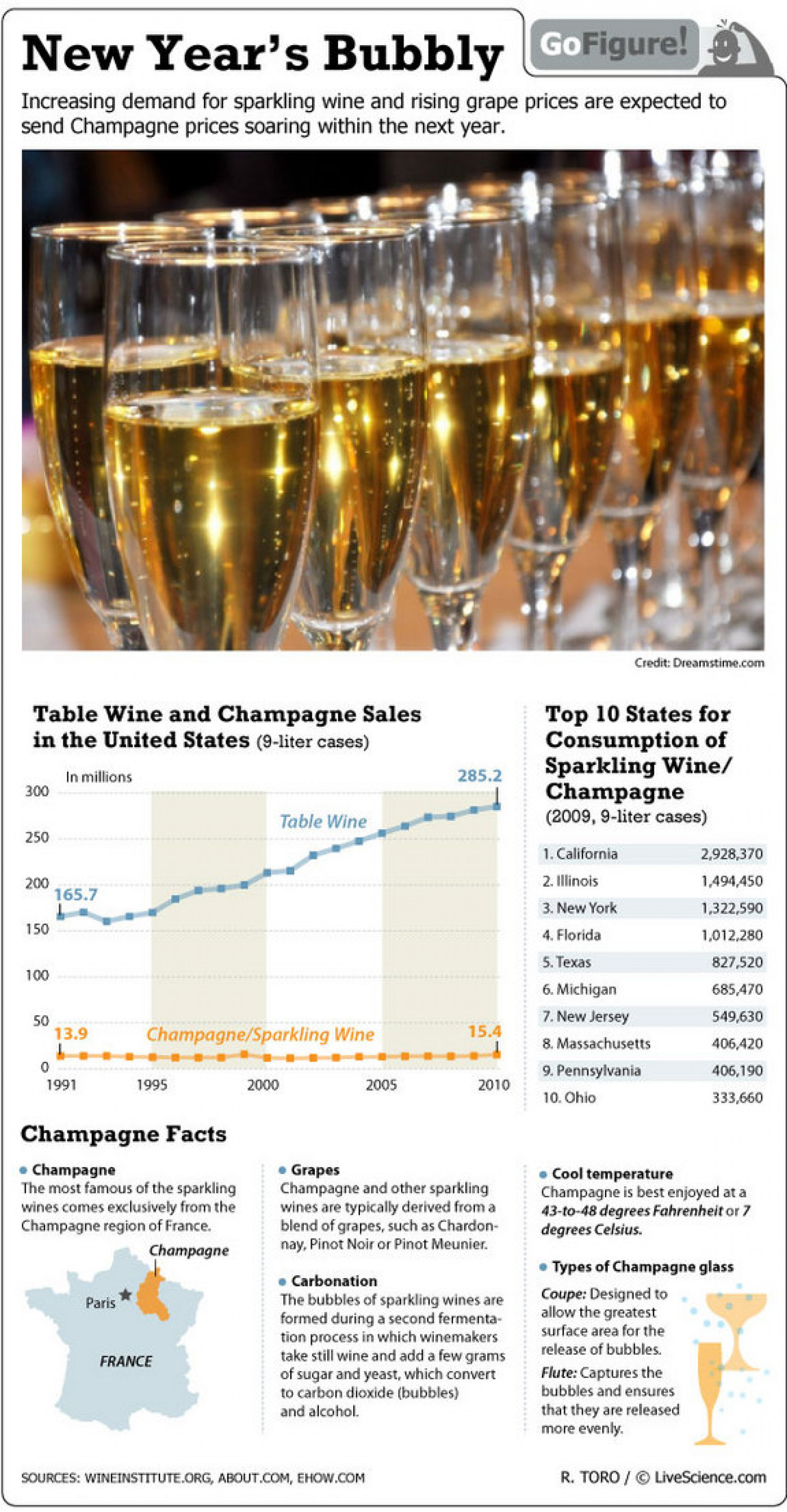 New Year's Bubbly Infographic
