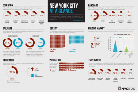 New York City At A Glance Infographic