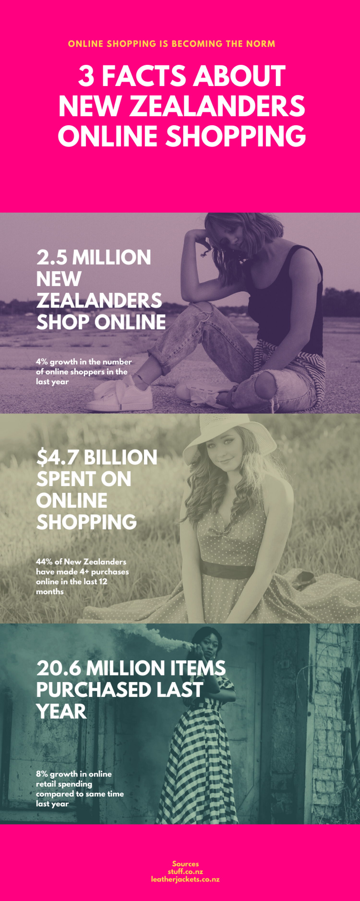 New Zealanders Online Shopping Infographic
