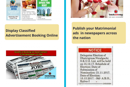 Newspaper Advertisement Online with Bookadsnow Infographic