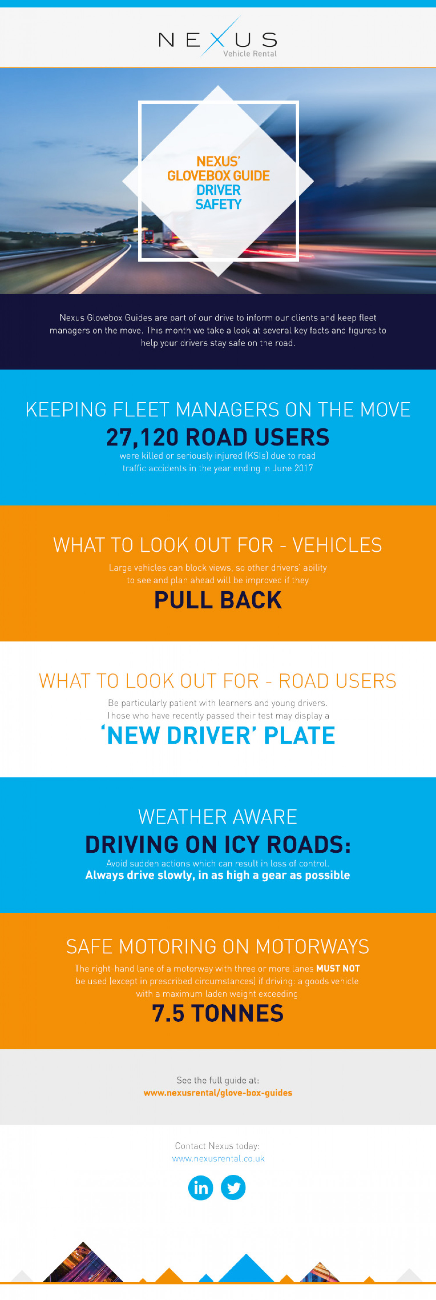 Nexus' Glovebox Guide: Driver Safety Infographic