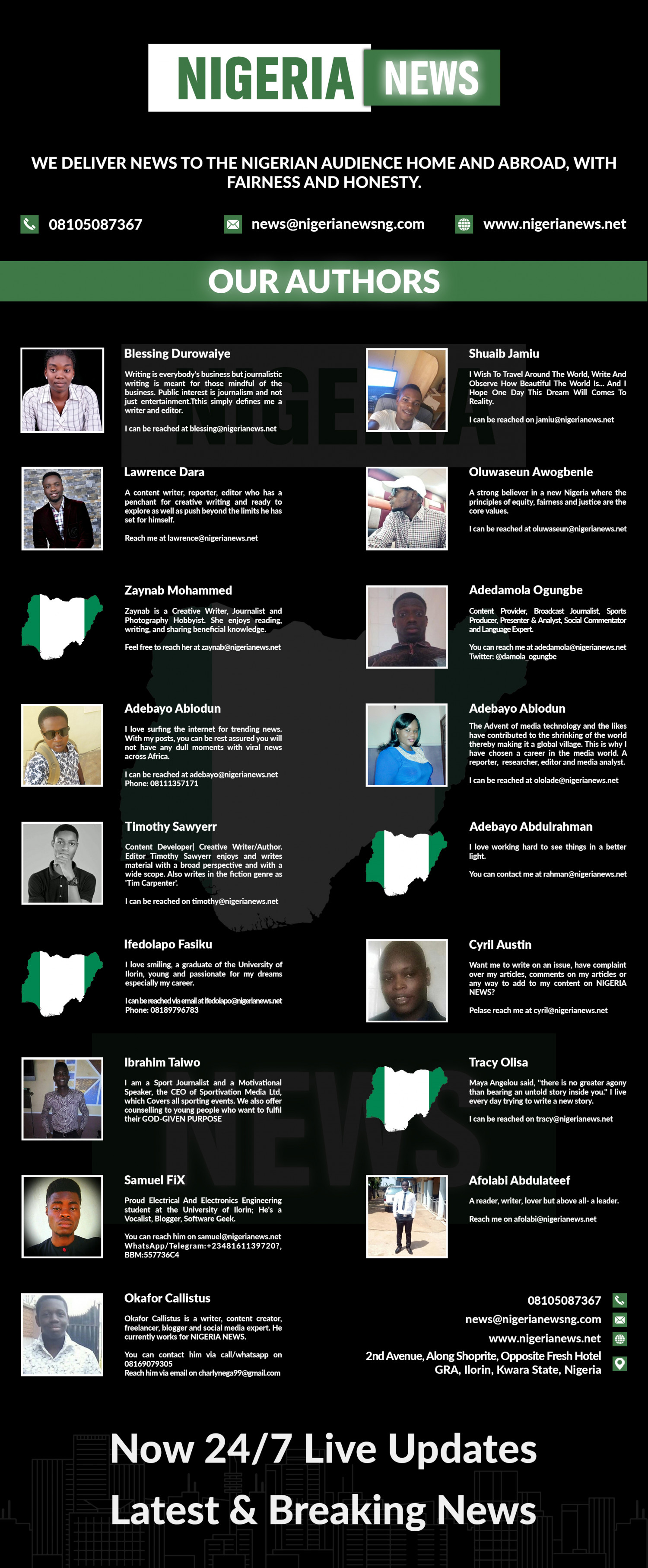 Nigeria News, latest Top news headlines from Nigeria and Africa. Infographic