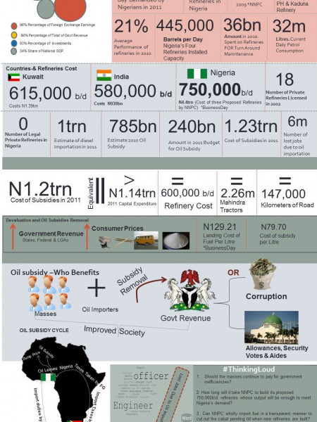 Nigeria Oil Subsidy  Infographic