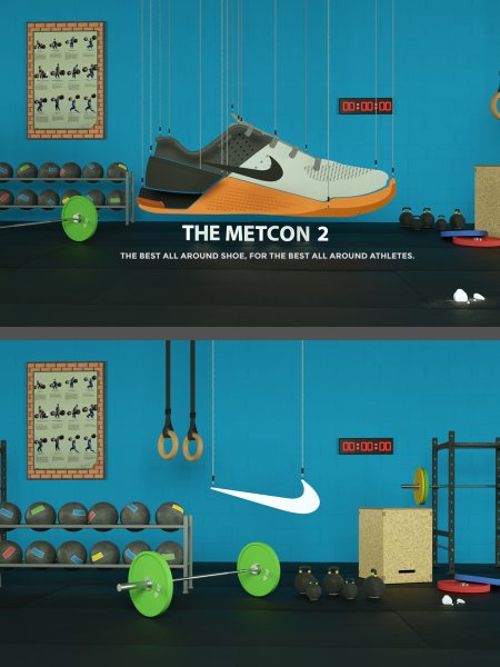 NIKE METCON 2 - 3D Illustration Infographic