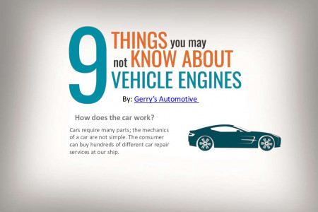 Nine Things You May Not Know About Vehicle Engines Infographic
