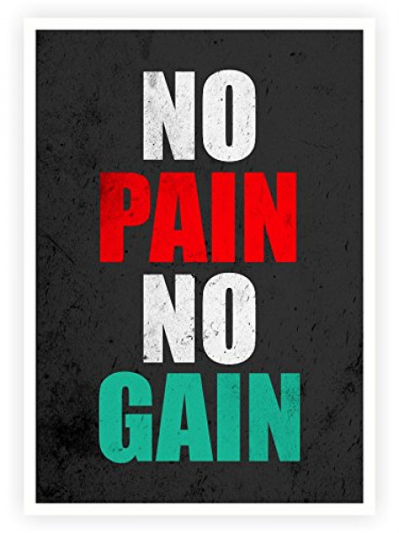 No Pain No Gain Gym Quotes Poster Infographic