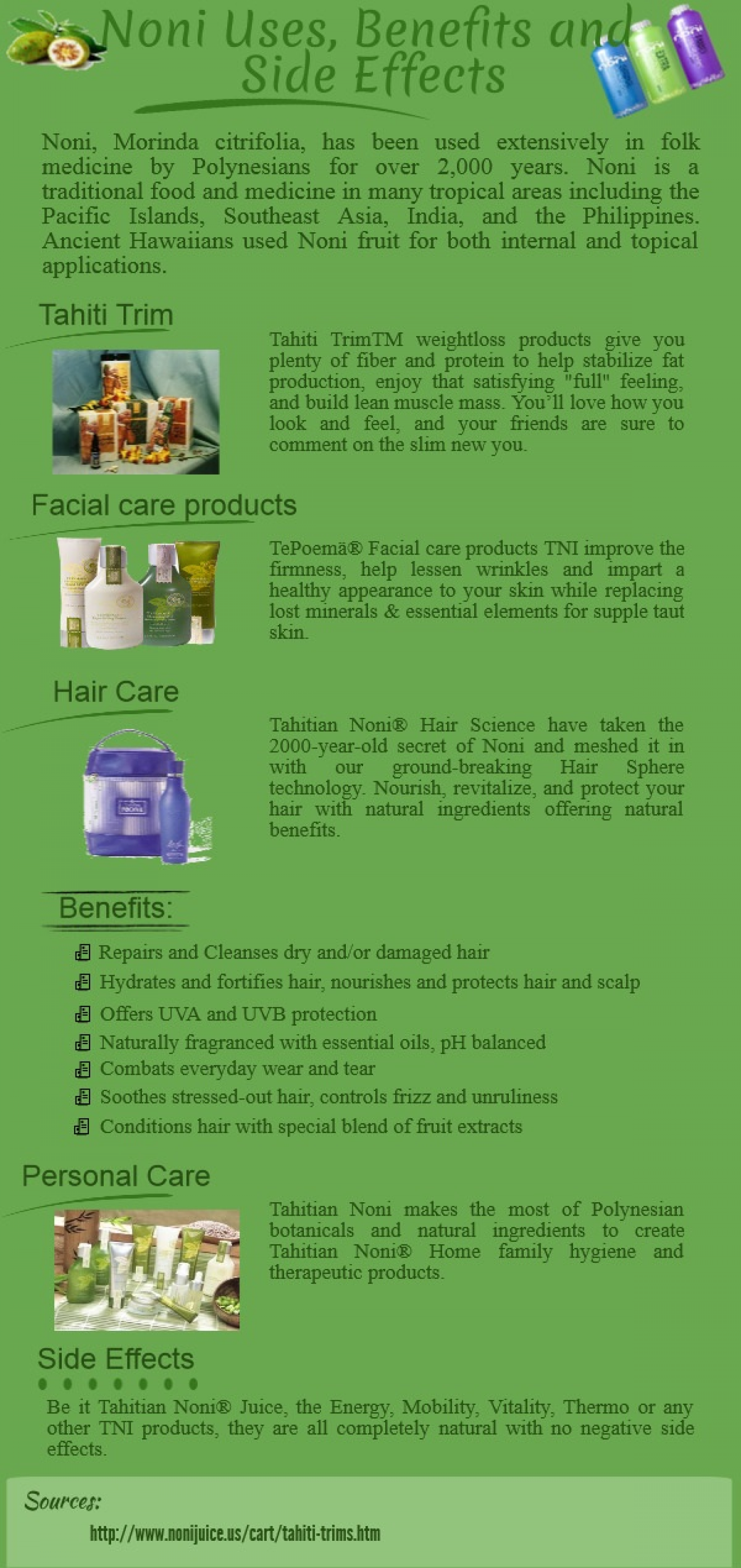 noni uses, benefits & side effects | visual.ly