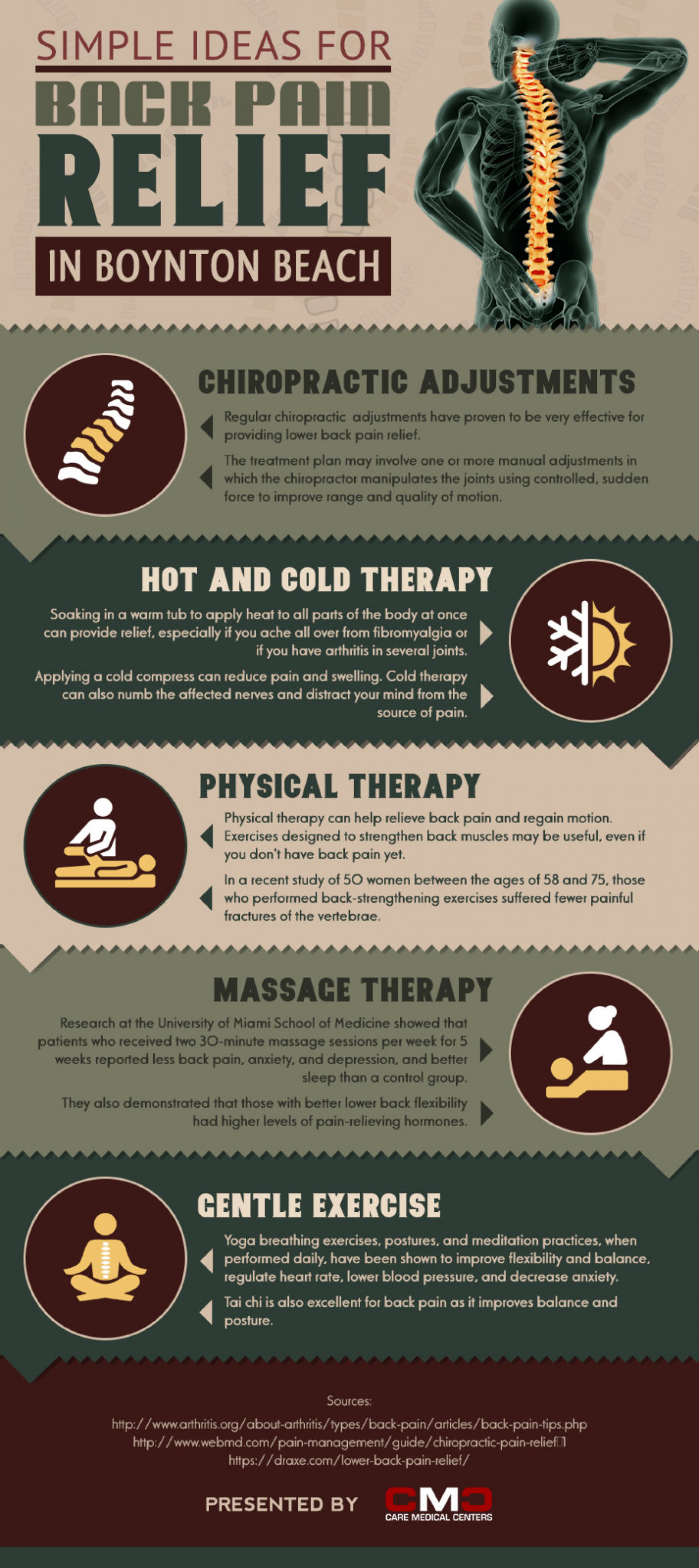 Non-Surgical Methods for Relieving Back Pain Infographic