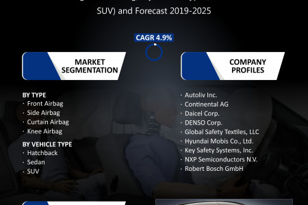 North American Passenger Car Airbag Market Research and Forecast 2019-2025 Infographic