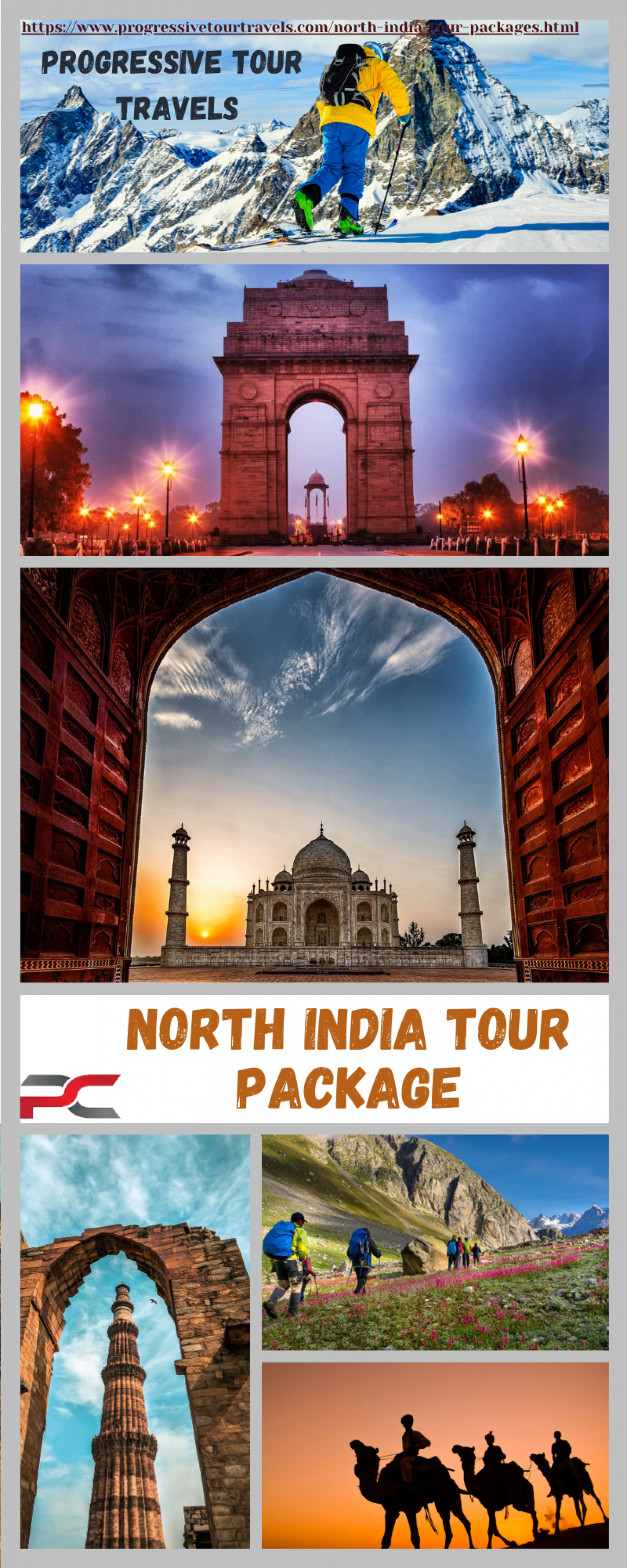 North India tour packages Infographic