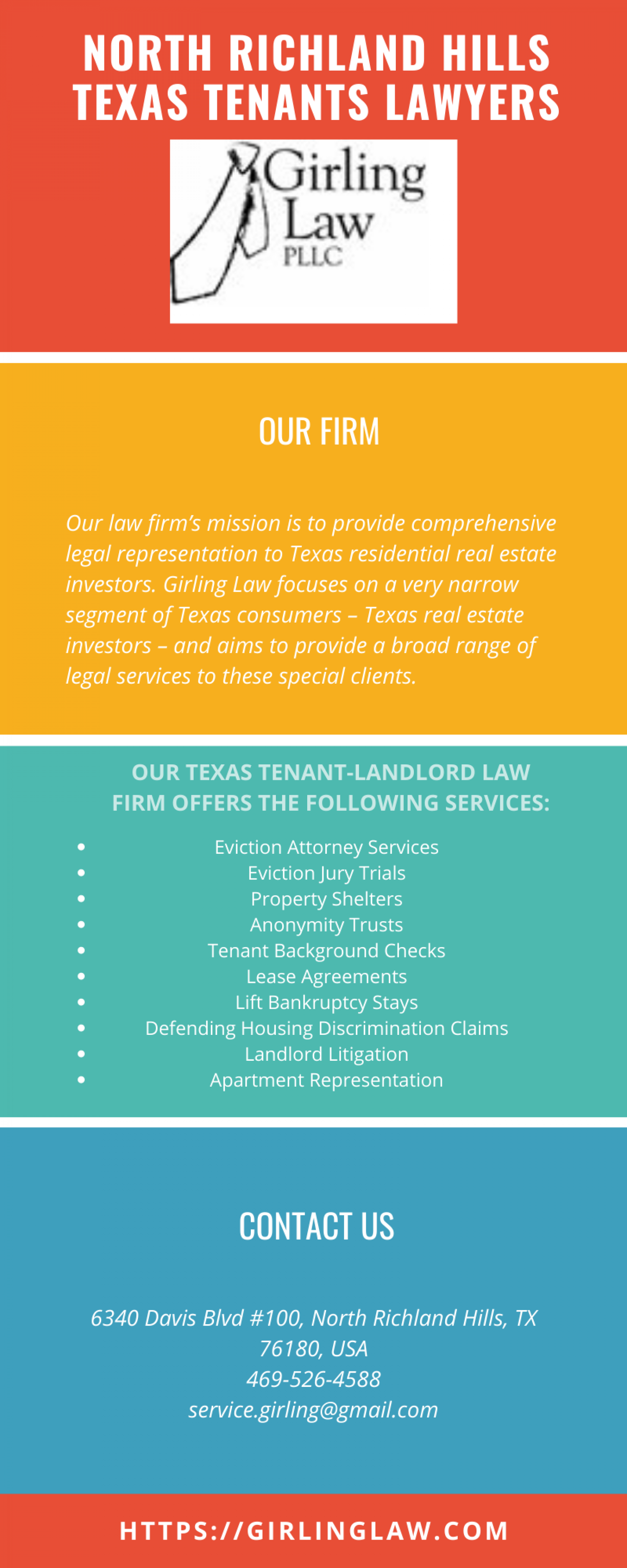 North Richland Hills Texas Tenants Lawyers Infographic