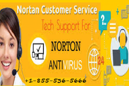 Norton Customer Support Number +1-855-536-5666 Infographic