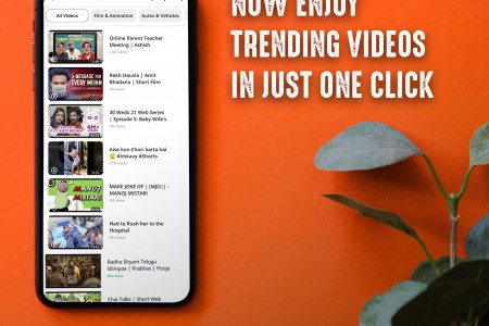 Now Enjoy Online Videos in Just One Click   Rocks Player App Infographic