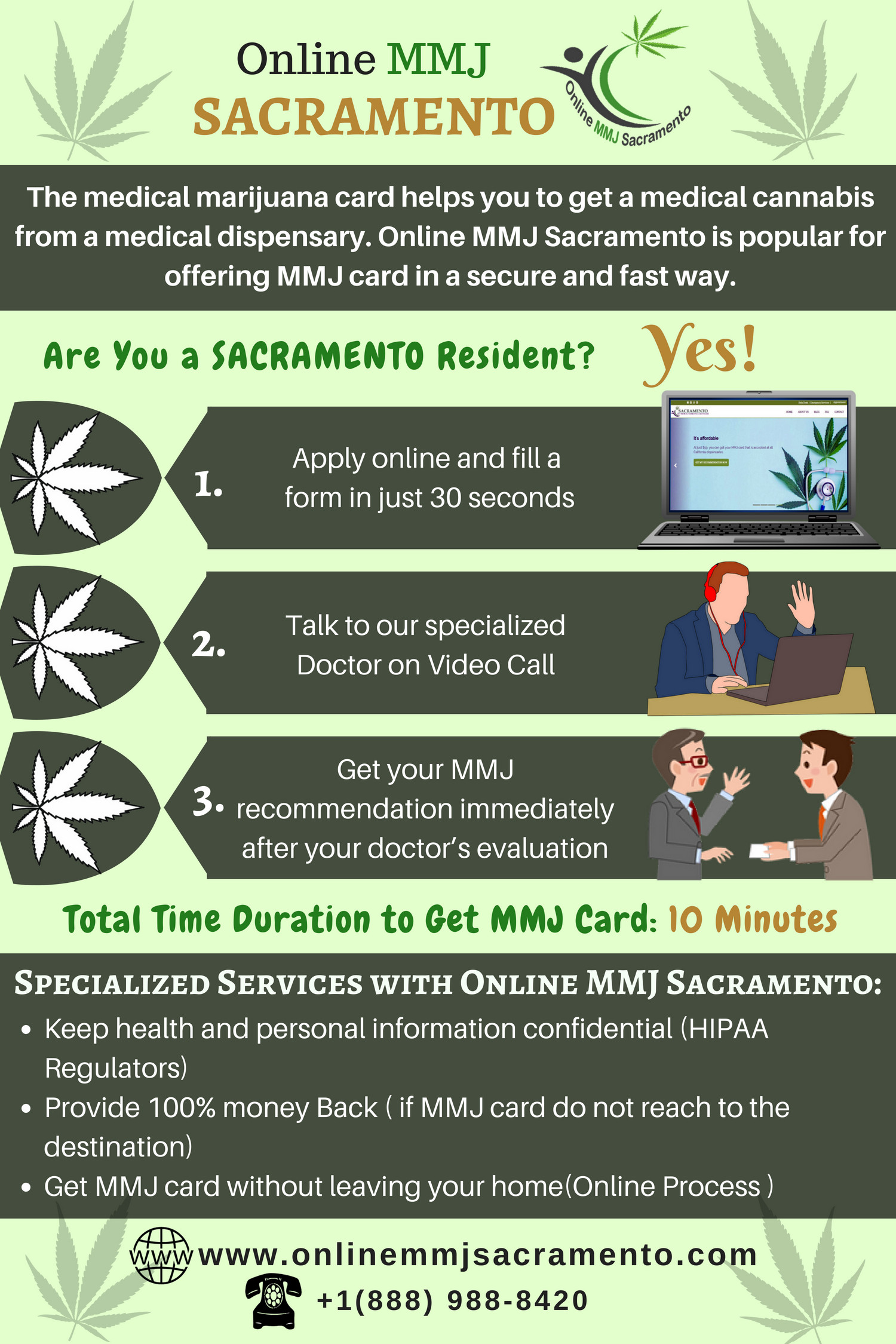 Now it is Easy To Access MMJ (Medical Marijuana) Card in Sacramento. Infographic