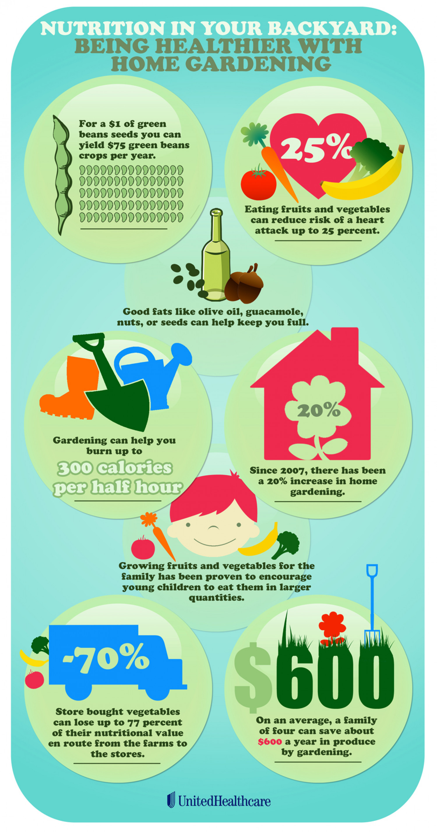 Nutrition in Your Backyard: Being Healthier with Home Gardening Infographic