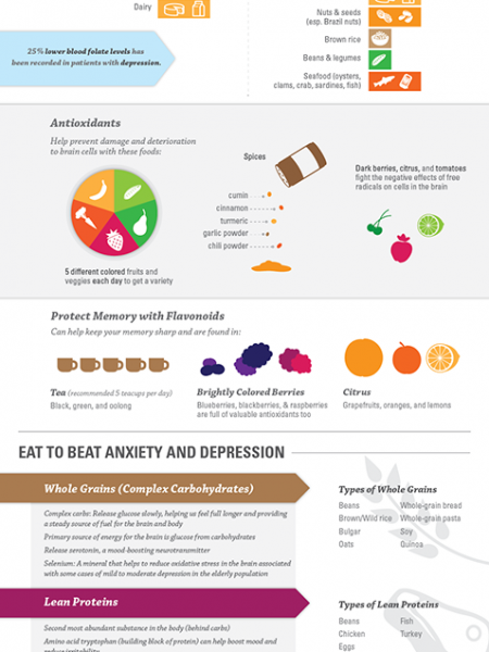 Nutrition of Mental Health Infographic