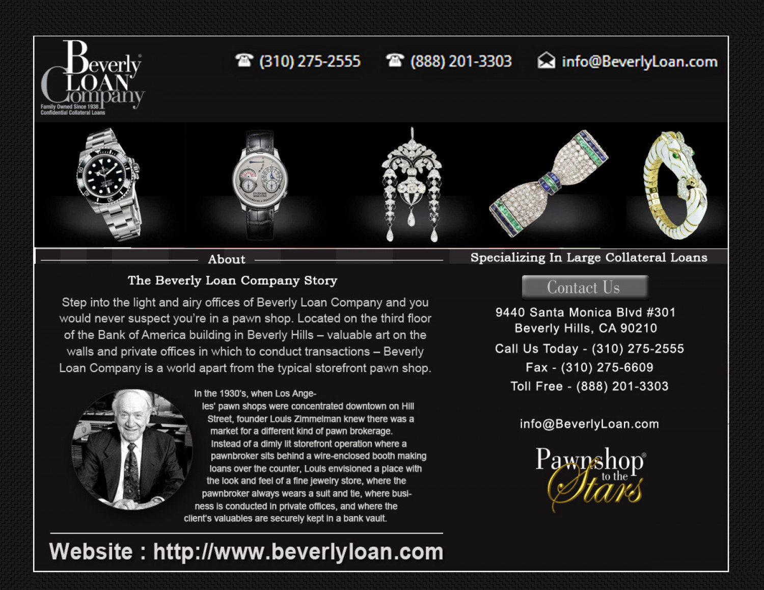 Beverly Loan Company Infographic