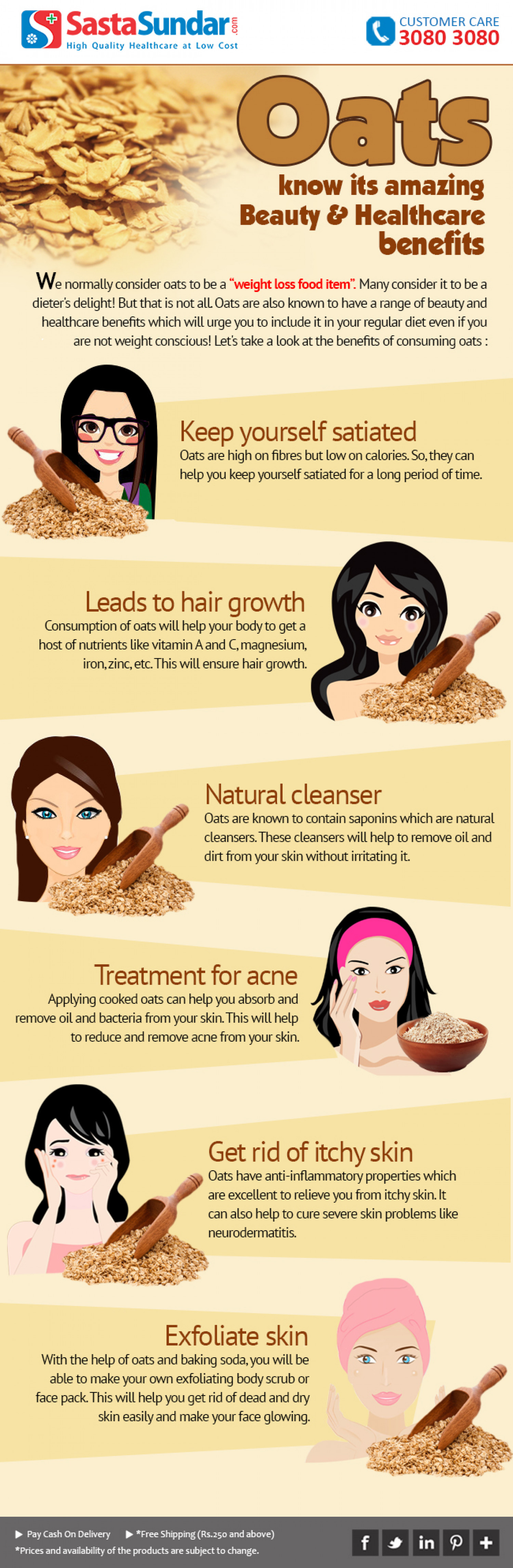 Oats - Know Its Amazing Beauty And Healthcare Benefits Infographic