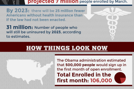 Obamacare by the Numbers Infographic