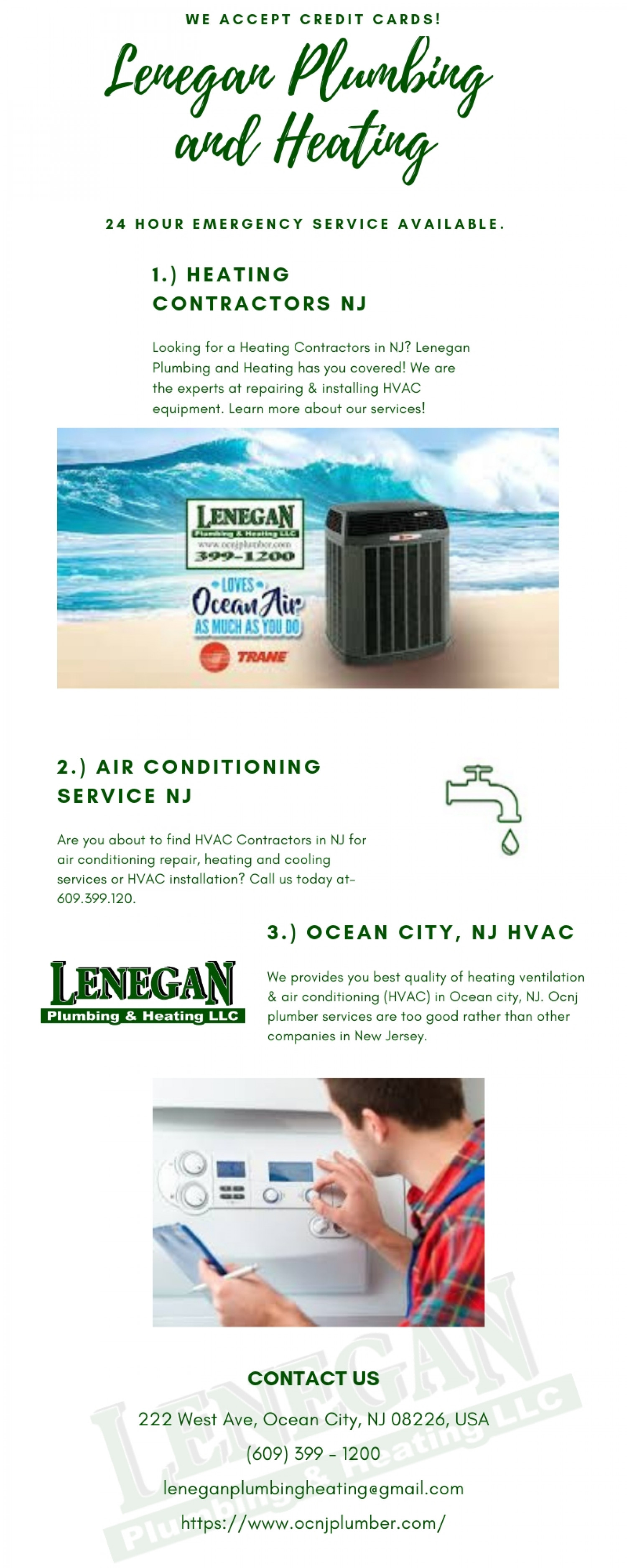 Ocean city, NJ HVAC - Lenegan Plumbing and Heating Infographic