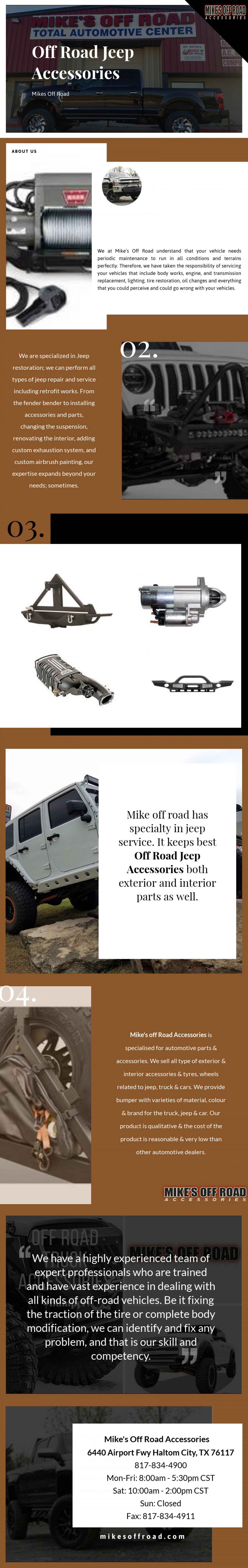 Off Road Jeep Accessories- All Types of Parts & Accessories Available Infographic