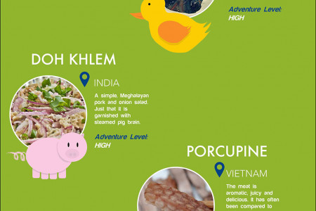 Off the Beaten Palette - Adventurous Food to try in SE Asia! Infographic