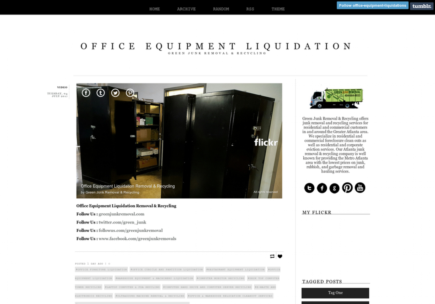 Office Equipment Liquidation Removal & Recycling  Infographic