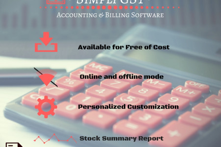 Offline mode GST Billing Software for Free Download Infographic