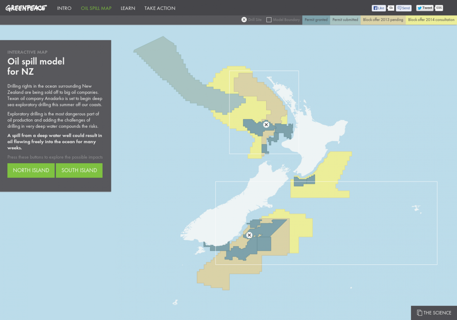 Oil Spill Map New Zealand Interactive Infographic