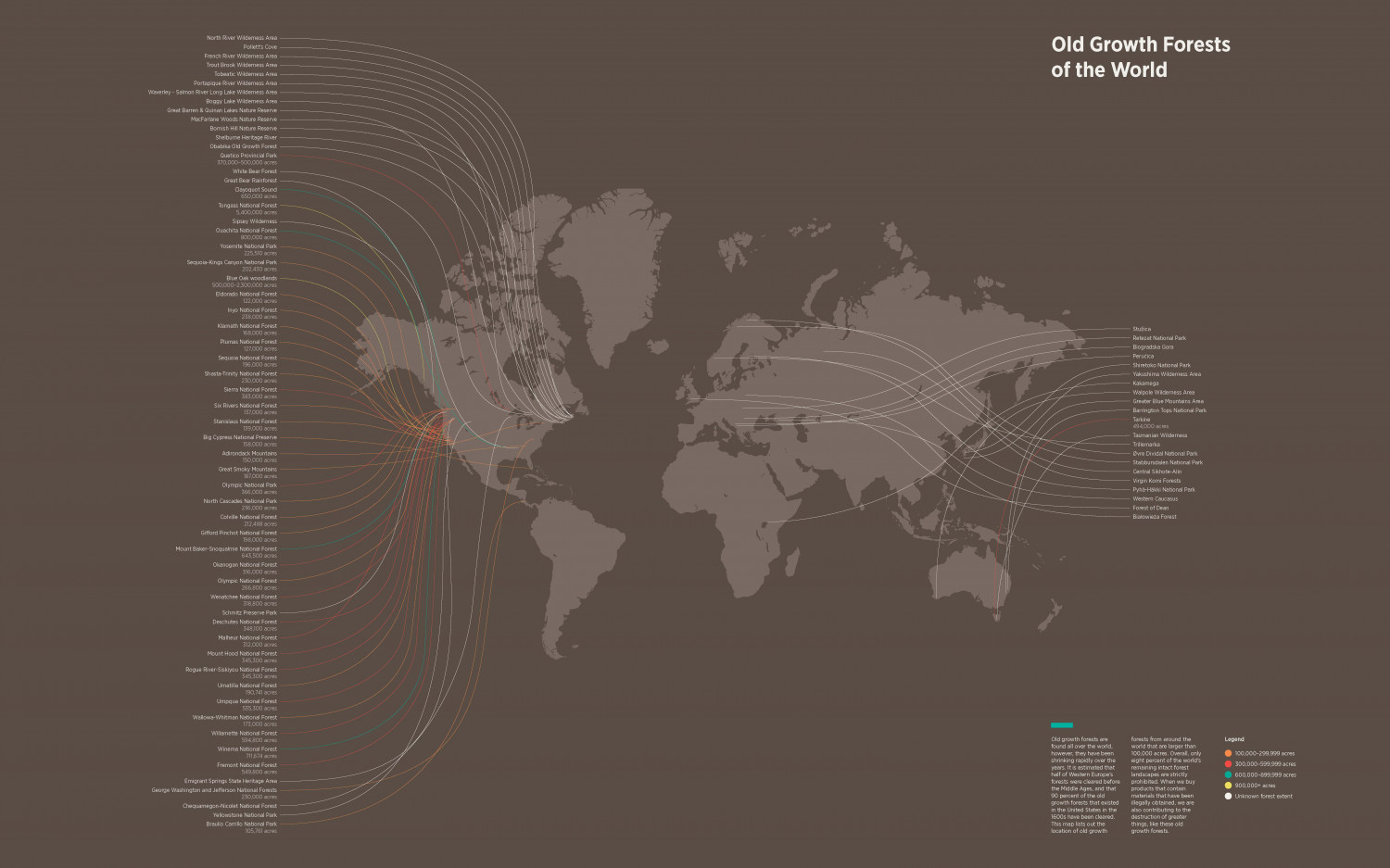 Old Growth Forests of the World Infographic