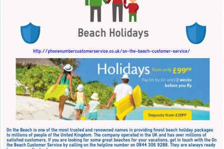 On the Beach Customer Service Infographic