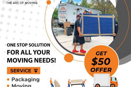 One Move Movers | Professional Moving Service in Bay Area California Infographic