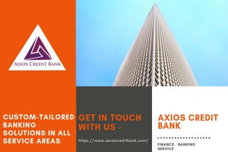 Online Banking Services By Axios Credit Bank Infographic