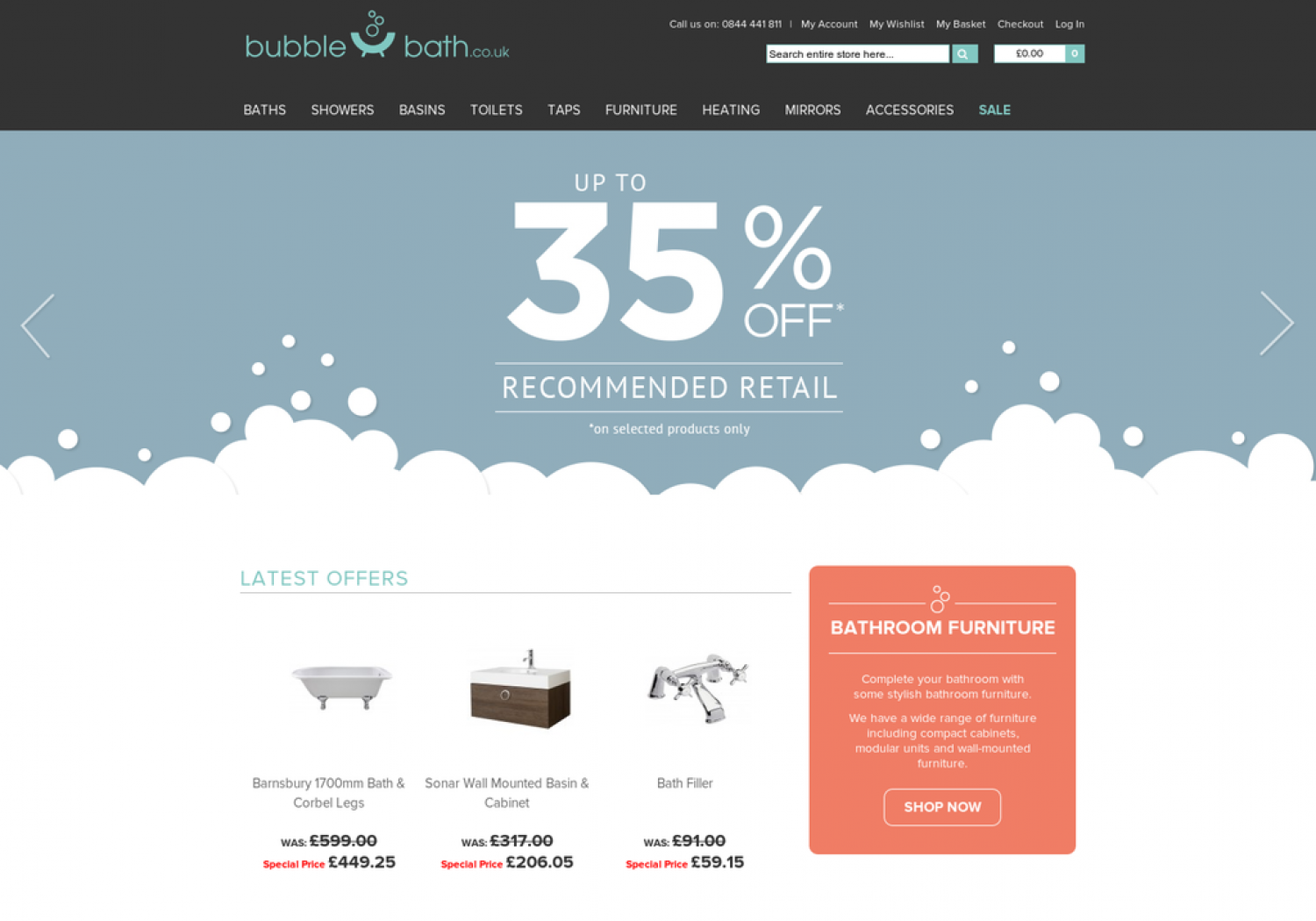 Online Bathroom Store - Bubble Bath | Visual.ly
