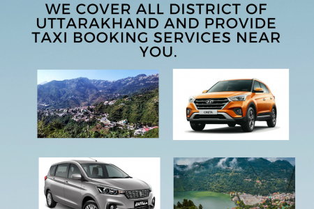 Online Car Booking Services in Uttarakhand Infographic