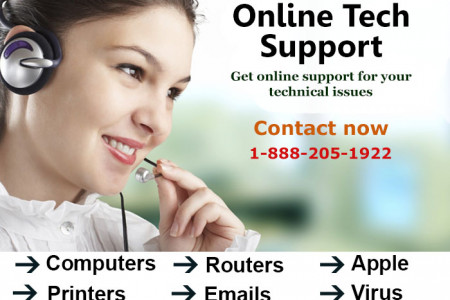 Online Computer Tech Support 1-888-205-1922 Infographic