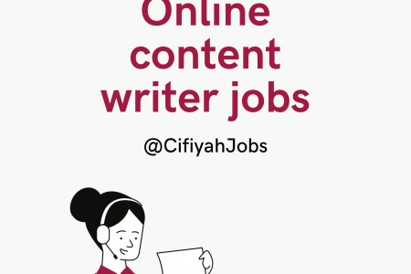 Online content writer jobs for fresher Infographic
