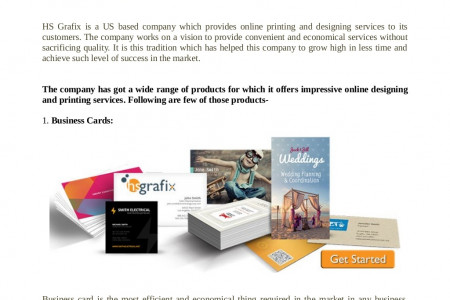 Online Designing and Printing with HS Grafix Infographic