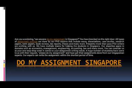 Online do my assignment singapore Infographic