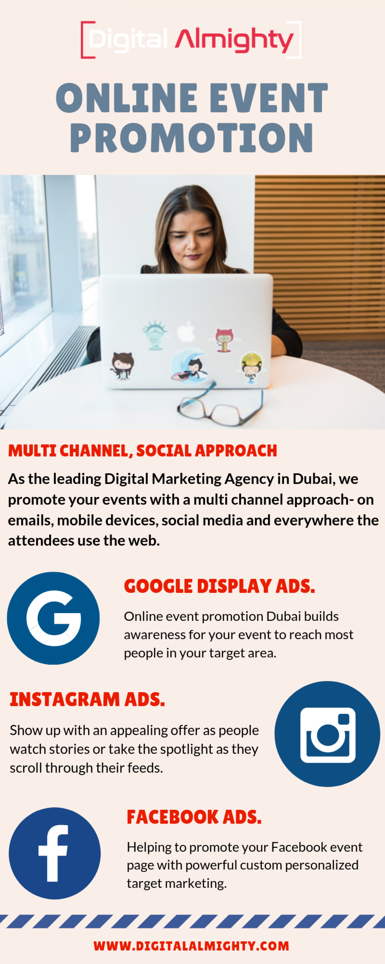 Online Event Promotion - Digital Almighty  Infographic