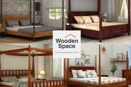 Online Four Poster Beds Made from Finest Woods Infographic