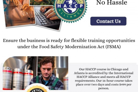 Online HACCP Certification Courses  Infographic