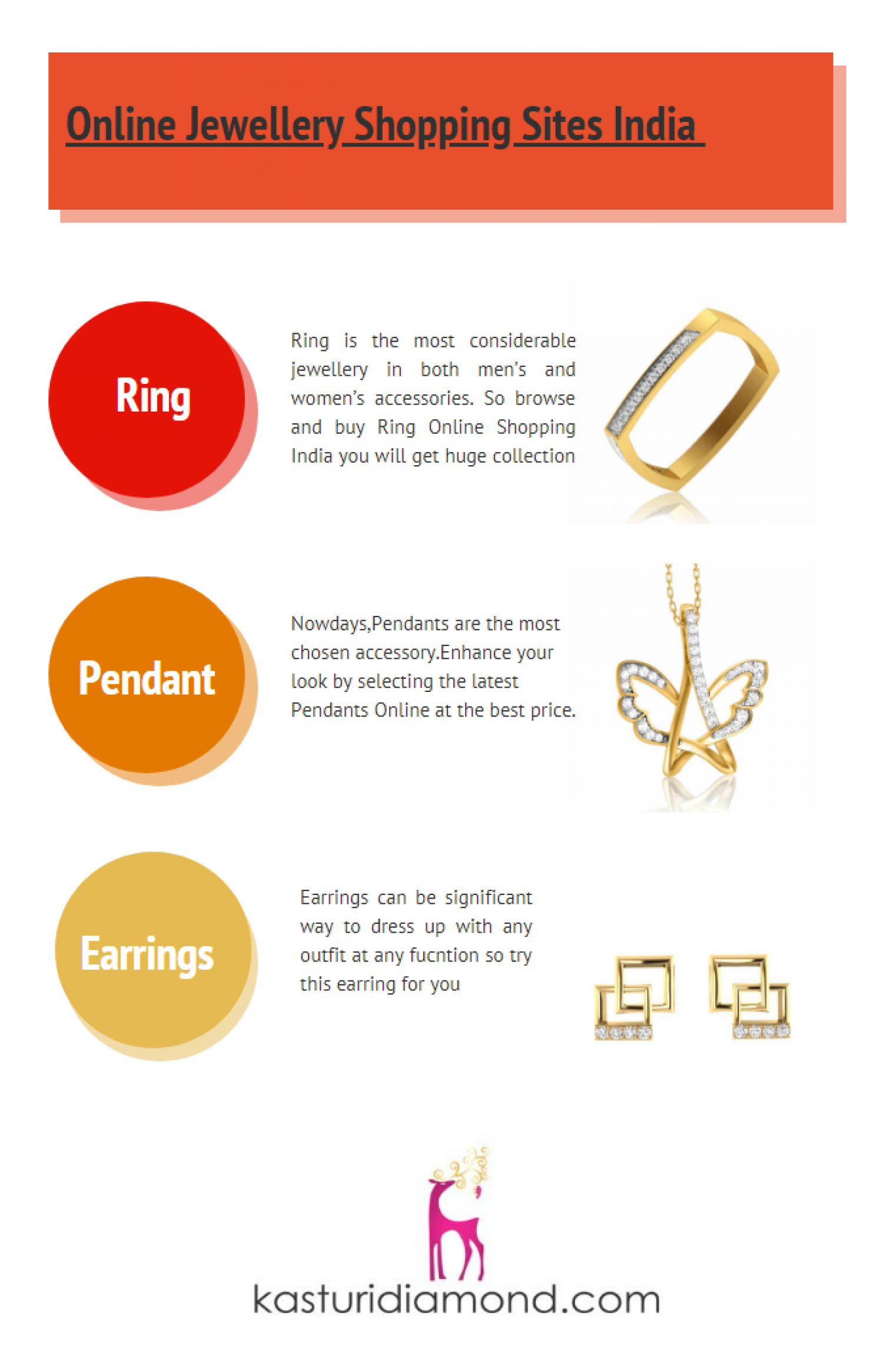 Online Jewellery Shopping Sites India Infographic