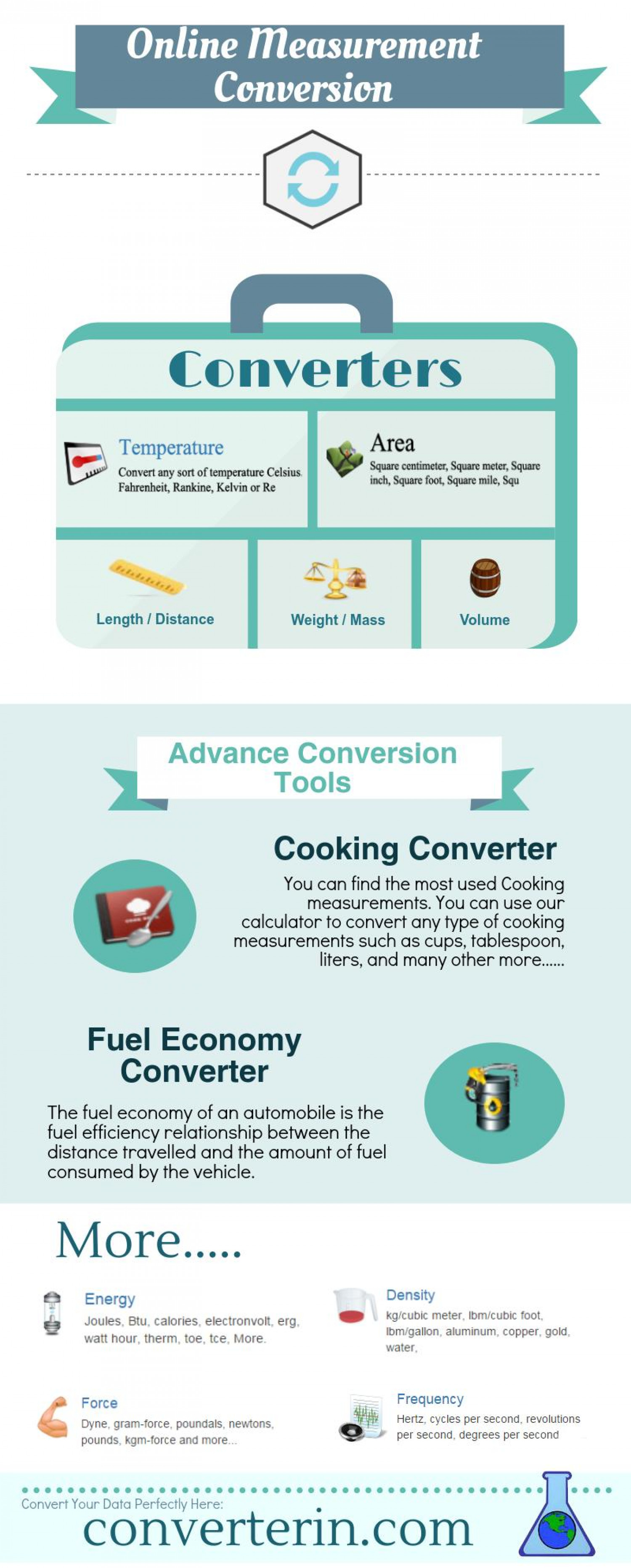 Online Measurement Conversion Infographics Infographic