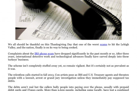 Online Security at IRS phone scam finally may be fizzling out Infographic