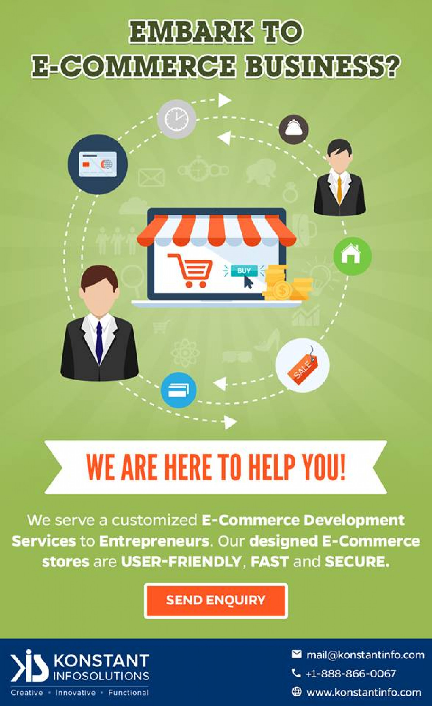 Online Store Builder for Every Business Infographic