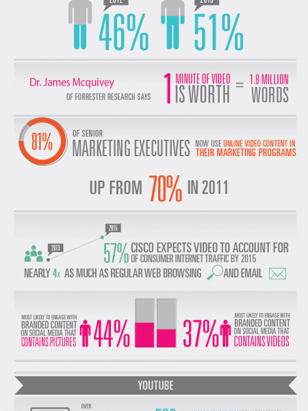 Online Video Consumption by the Numbers  Infographic