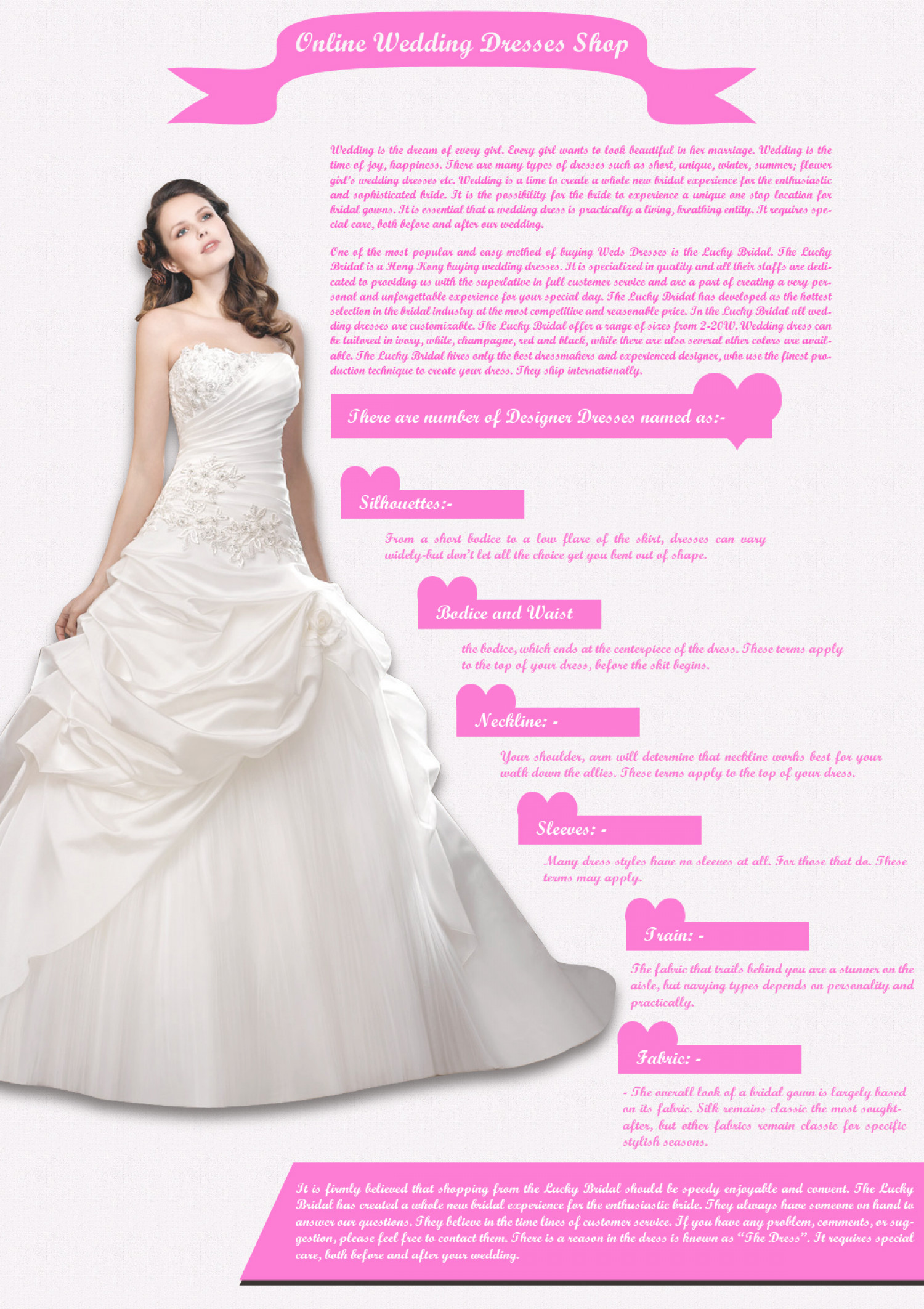 Online Wedding Dresses Shop Visual Ly