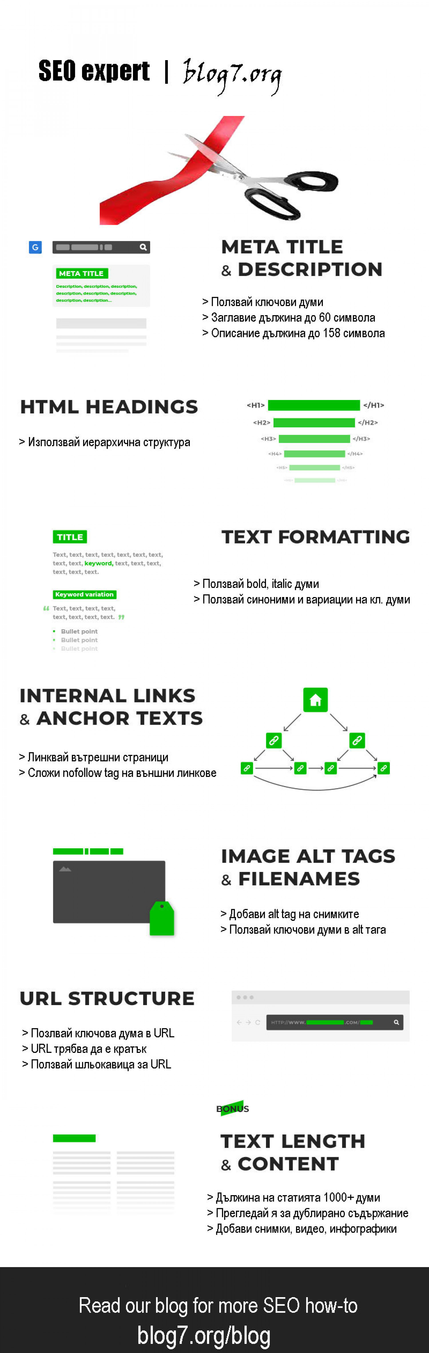 On-site SEO tips Infographic