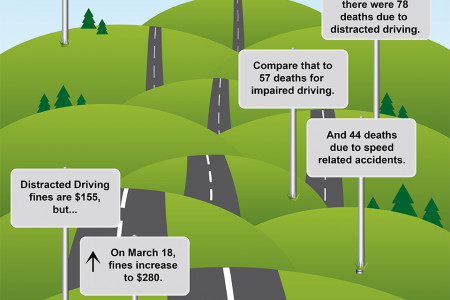 Ontario Texting While Driving Statistics Infographic